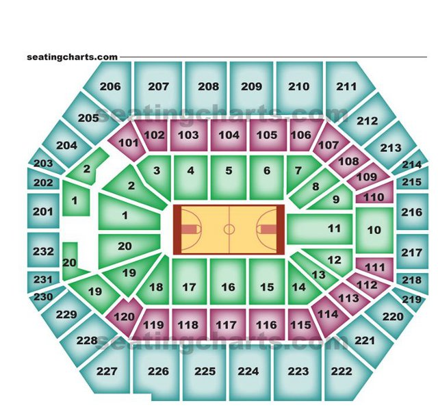 Indiana pacers seating chart pacersseatingchart